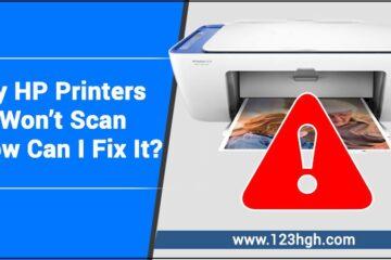 HP printers won't scan