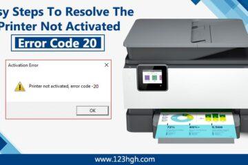 Printer not Activated Error Code 20