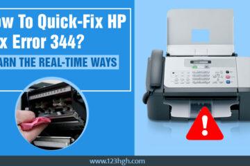 HP Fax error 344