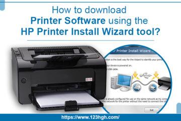 HP print install wizard