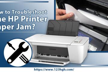 HP printer paper jam error